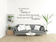 "Wall Quote ""Let's Start With Forever"" Love Family Sticker Decal Decor Transfer"